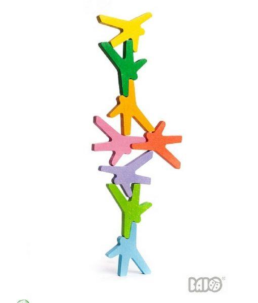 Acrobati. Gioco di bilanciamento. Gioco di equilibrio. Gioco creativo. Favorisce lo sviluppo del coordinamento oculo-manuale. Gioco in legno. Gioco educativo.