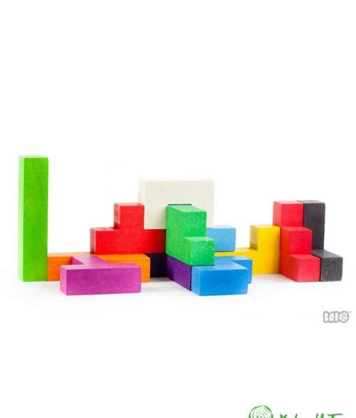 Pentomino 2. Mattoncini colorati. Puzzle in legno. Gioco in legno. Gioco educativo. Gioco creativo. Gioco di abilità. Gioco di equilibrio. Gioco di logica. Favorisce lo sviluppo della capacità di logica e la consapevolezza spaziale.