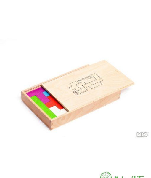 Pentomino 3. Mattoncini colorati. Puzzle in legno. Gioco in legno. Gioco educativo. Gioco creativo. Gioco di abilità. Gioco di equilibrio. Gioco di logica. Favorisce lo sviluppo della capacità di logica e la consapevolezza spaziale.