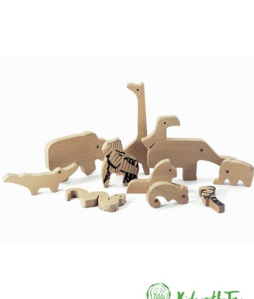 Puzzle Giungla. Puzzle fronte e retro. Gioco in legno. Animali in legno. Gioco creativo. Gioco educativo.